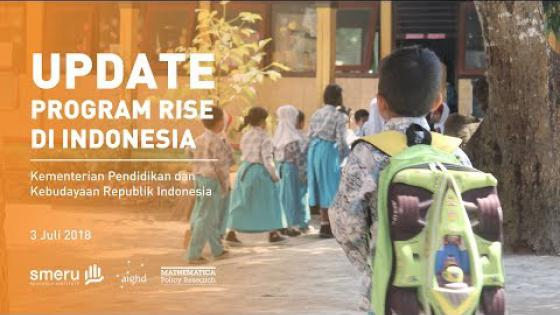 Embedded thumbnail for Update Program RISE di Indonesia