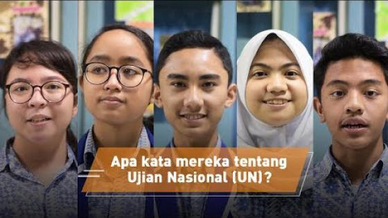 Embedded thumbnail for Apa kata mereka tentang Ujian Nasional (UN)?