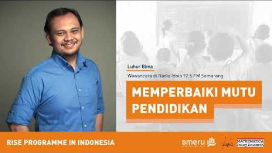 Embedded thumbnail for Improving Education Quality | Interview with Luhur Bima at Idola FM