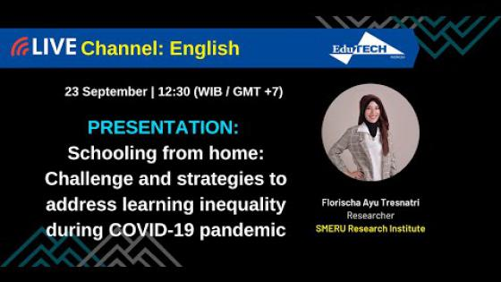 Embedded thumbnail for Schooling from Home: Challenges and Strategies to Address Learning Inequality during COVID-19 Pandemic